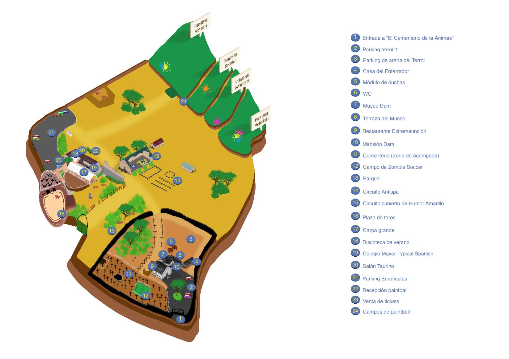 Mapa Eurofiestas